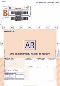Recommandé bureautique A4 international