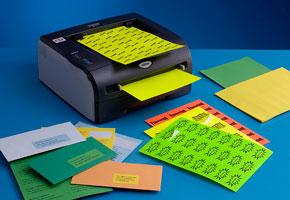 Etiquettes fluo et de couleur vive Techmay Logetiq