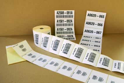 Données variables sur étiquettes adhésives