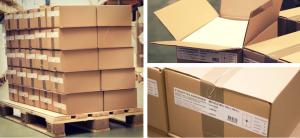 Palette de 50 boîtes de 1 000 feuilles A4 d'étiquettes adhésives