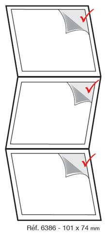 Etiquettes adhésives ultra adhésive en zig zag