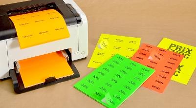 Etiquette adhesive couleur